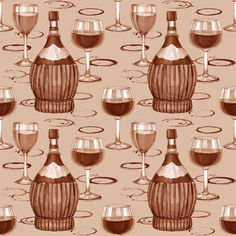 Wine seamless pattern. vector illustration