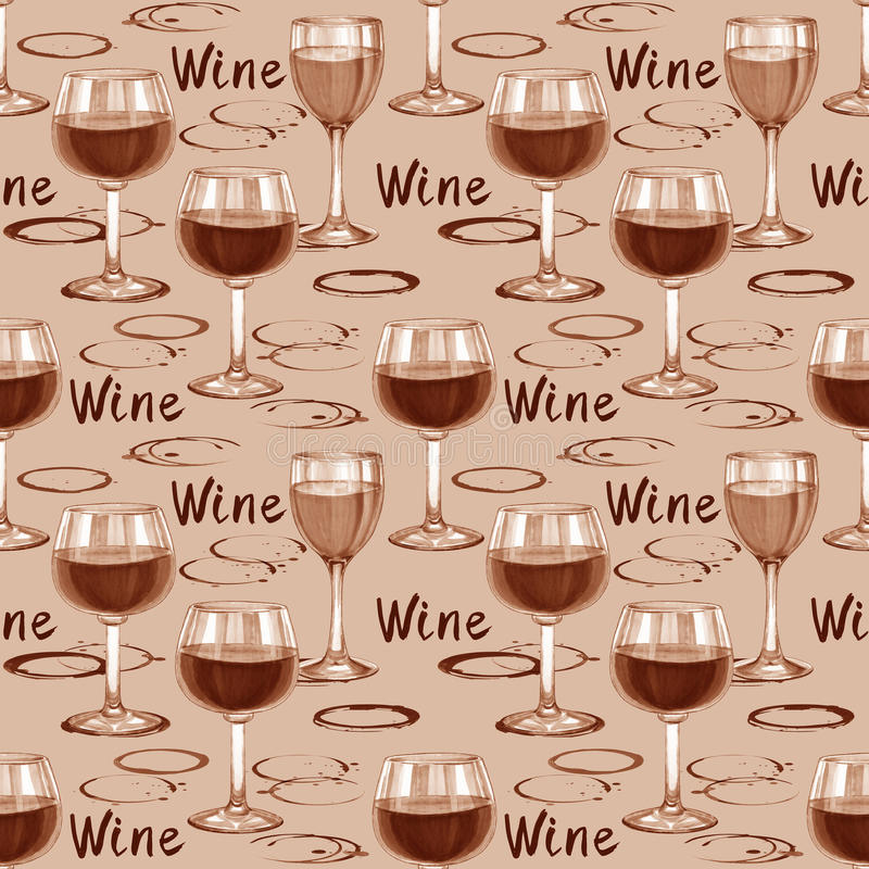 Wine seamless pattern. Hand-drawn pattern with wine stains vector illustration