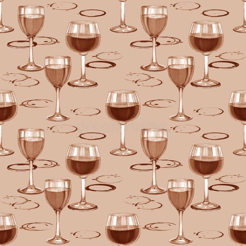 Wine seamless pattern. stock illustration