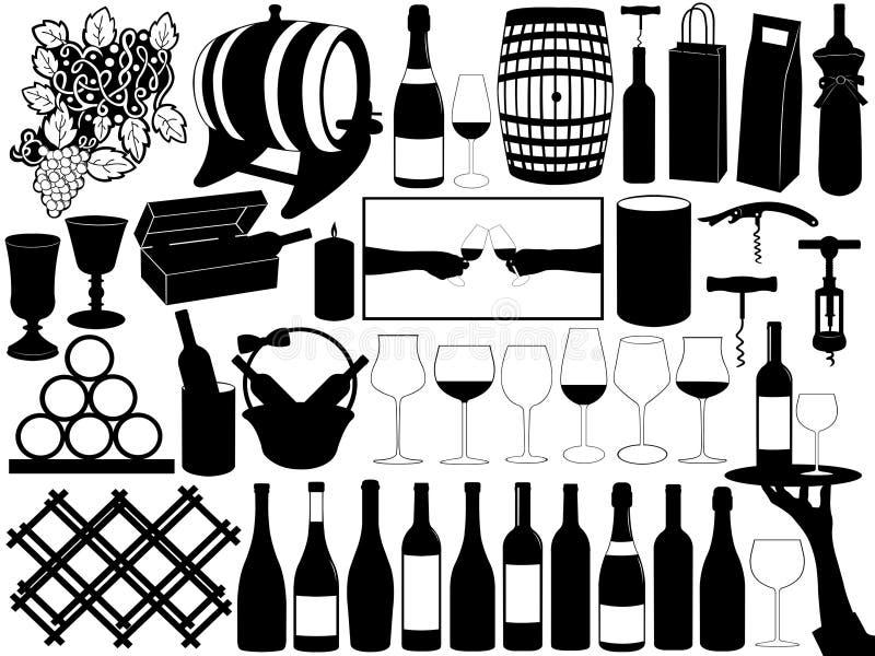 Download Wine Set stock vector. Image of barrel, different, flora - 29628696