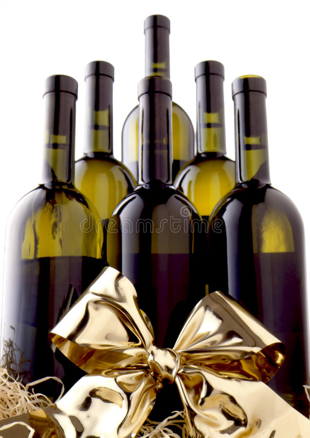 Wine Sextet Present stock photography