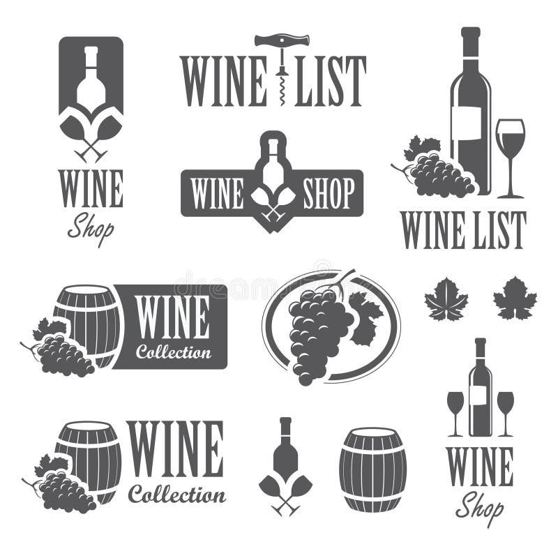 Wine signs royalty free illustration