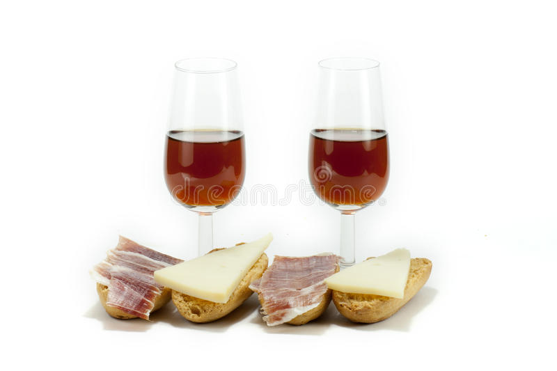Download Wine and snack stock photo. Image of alcohol, bread, meat - 23248732