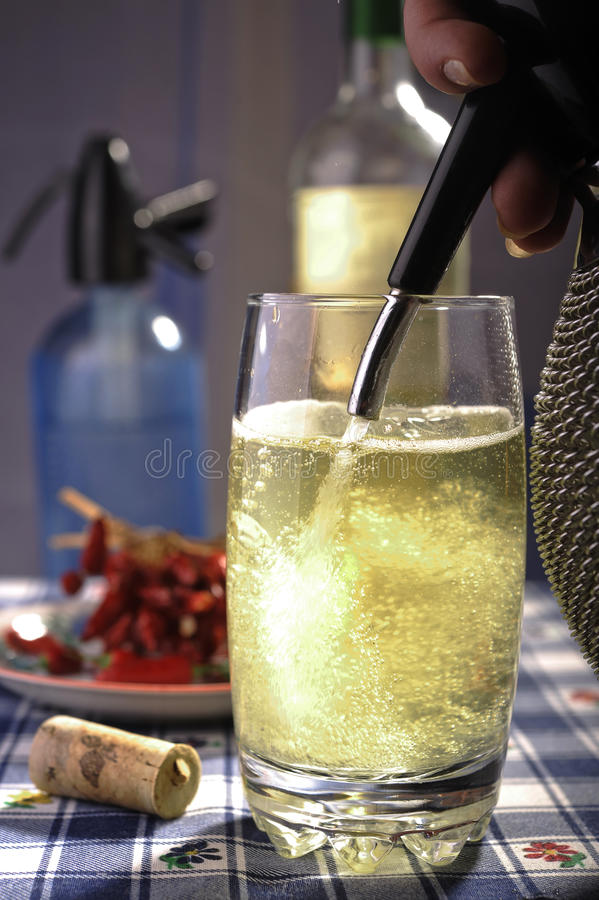 Wine spritzer cooling drink royalty free stock image
