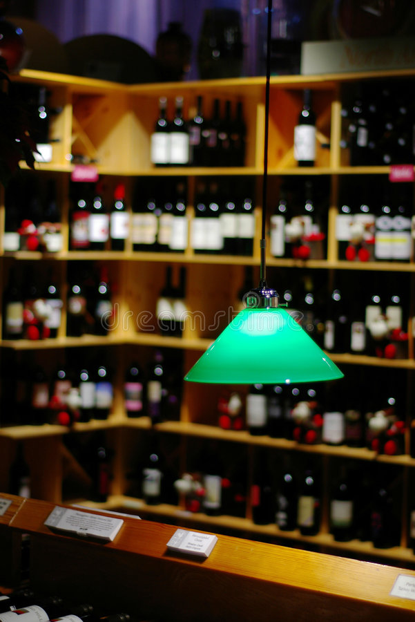 Wine store royalty free stock photography