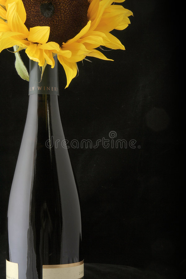 Download Wine with Sunflower stock photo. Image of holiday, bloom - 818558