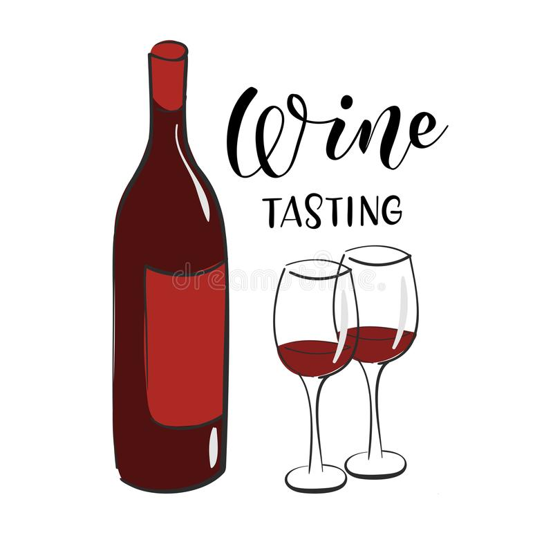 Wine Tasting Banner Design Template stock photography