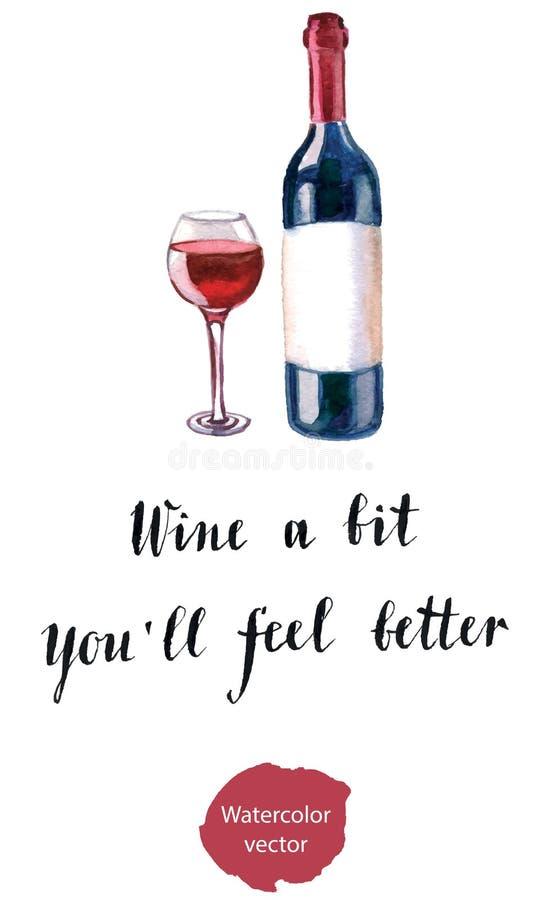 Wine un peu Vous sensation de ll de ` mieux illustration libre de droits