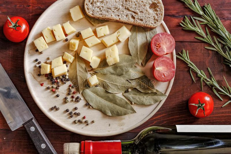Cheese, food, rosemary, cuisine, red, traditional, delicious, dinner, gourmet, italian, Top view, closeup. selective focus, royalty free stock images