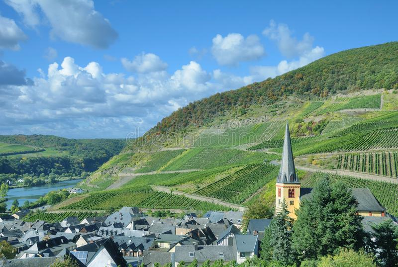 Wine Village of Senheim,Mosel Valley,Germany stock photos