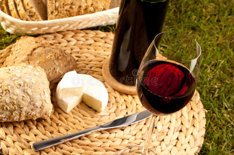 Wine on white stock photography
