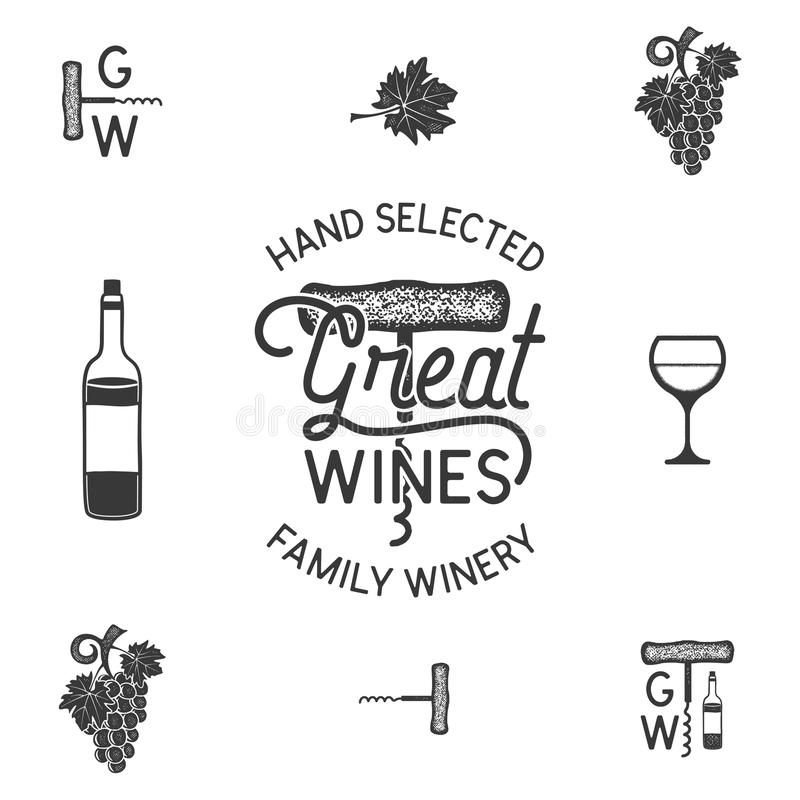 Grape Vine And Leaf Icons Seamless Wallpaper. Wine Cover