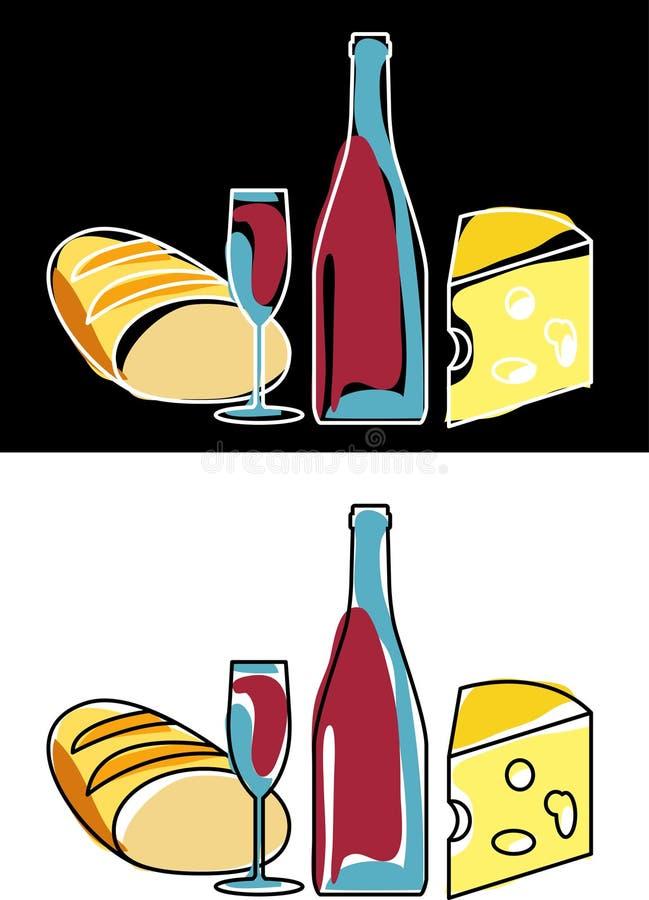 Download Wineandfood stock vector. Image of retro, liquid, restaurant - 4384734
