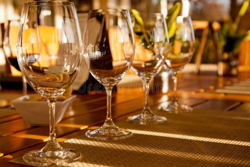 Wineavsmakningen royaltyfria bilder