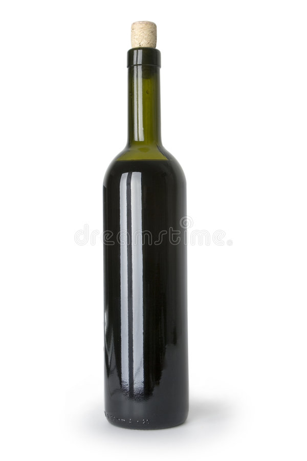 WineBottle vermelho isolado fotos de stock royalty free