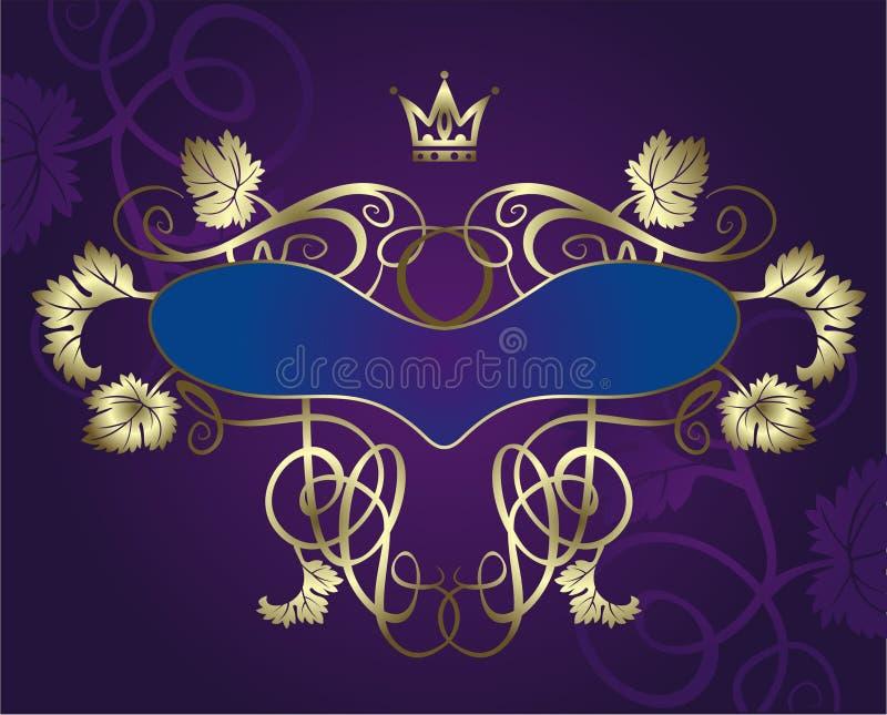 Wineetikett royaltyfri illustrationer