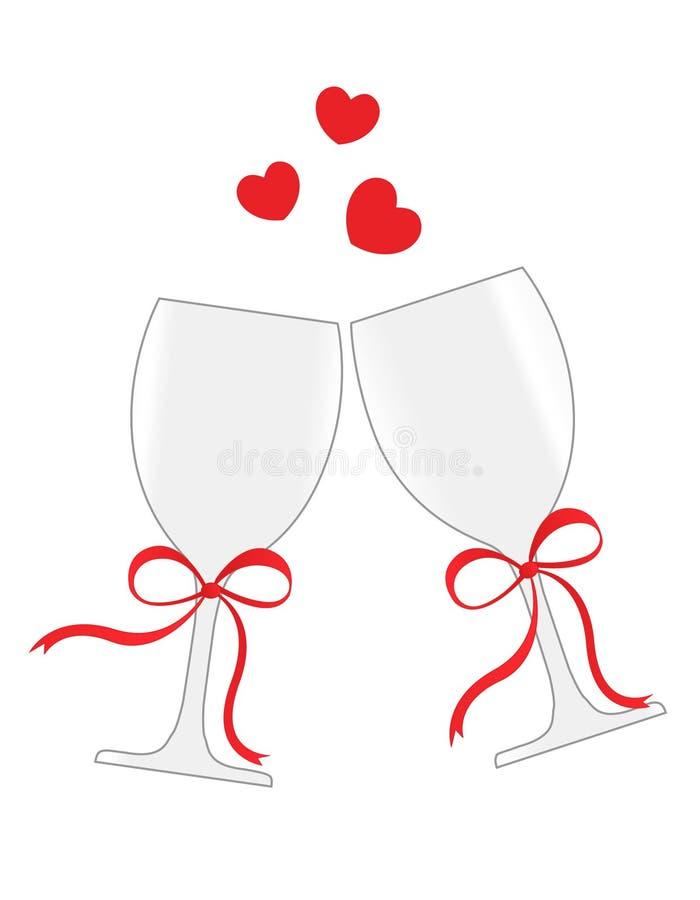 Wineexponeringsglas stock illustrationer