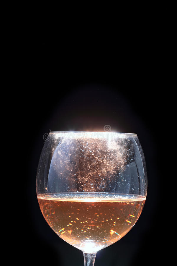 Wineexponeringsglas royaltyfria foton