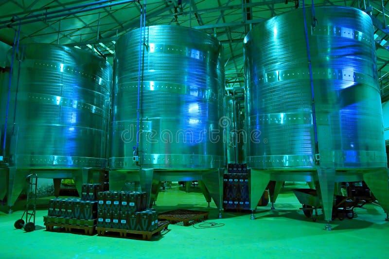 Winefabrik - industriellt område arkivfoto