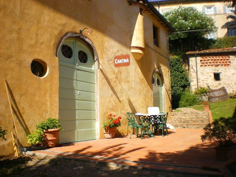 Winefarm et vin toscans Toscane Italie image stock