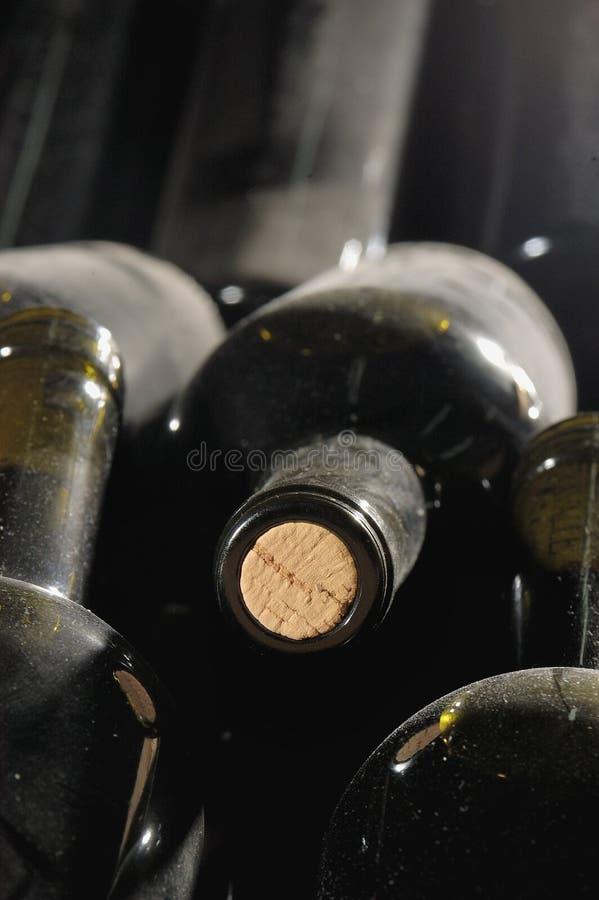 Wineflaskor arkivfoton