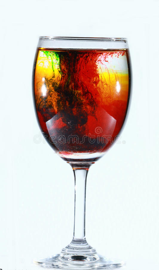 wineglass arkivfoto