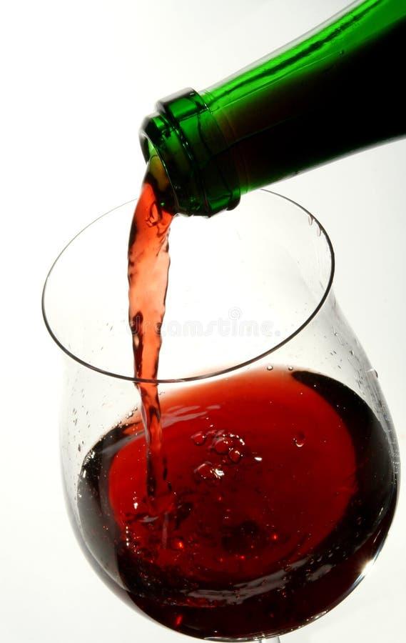 Wineglass av god fransk wine arkivfoto