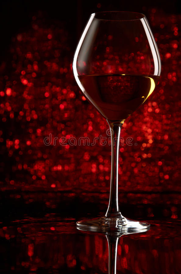 Wineglass with bokeh