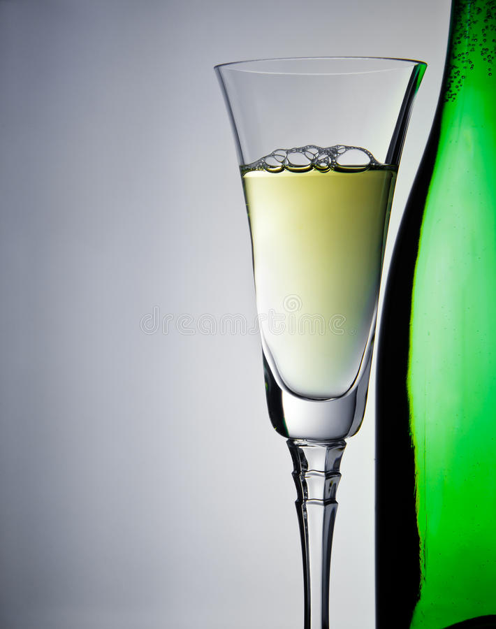 Download Wineglass and bottle stock photo. Image of drink, shot - 16388622
