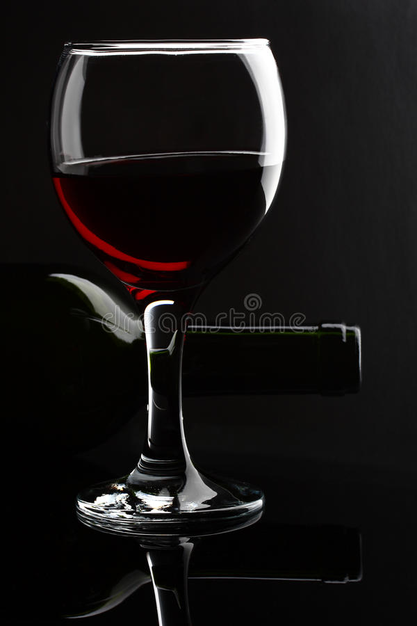 Download Wineglass and bottle stock image. Image of black, drink - 22845569