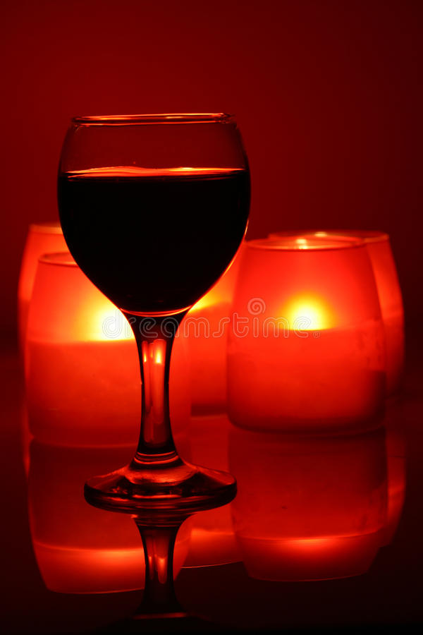 Download Wineglass And Candles Royalty Free Stock Images - Image: 12854849