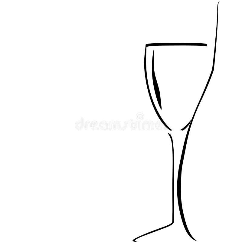 wineglass för white för backgrounflasksilhouette stock illustrationer