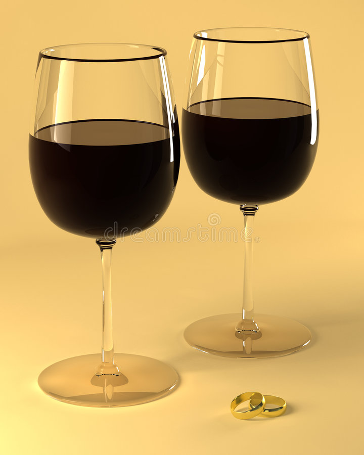 Wineglass of good French wine stock image