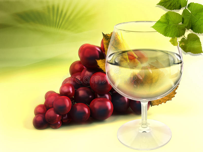 Download Wineglass and grapes stock photo. Image of clean, black - 19085072