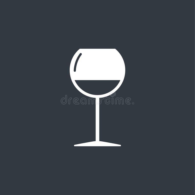 Wineglass ikona Czara symbol ilustracji