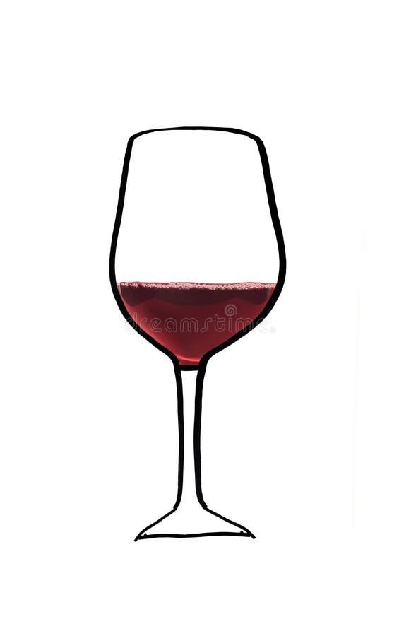 Wineglass isolated on white stock photos