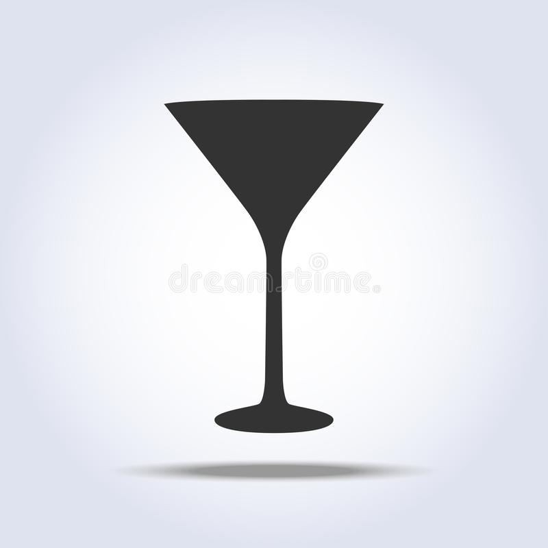 Free Wineglass Martini Glass Icon Object On Gray Background Royalty Free Stock Photos - 130353388