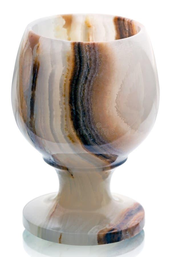 Wineglass onyks na bielu 3 fotografia stock