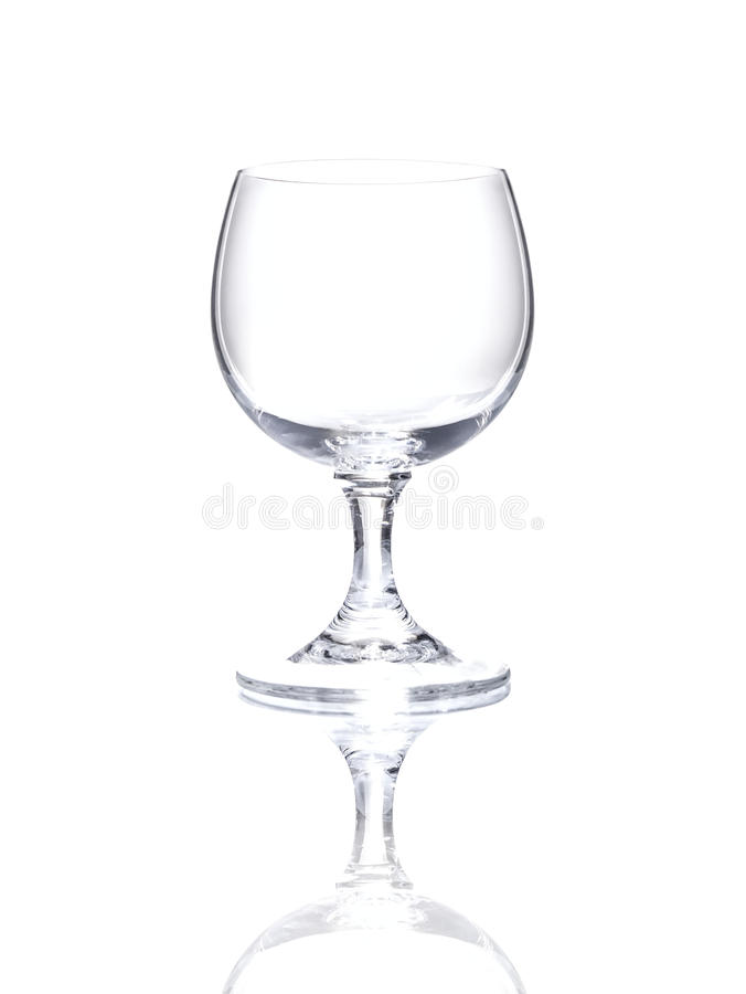 Wineglass over white background stock photos