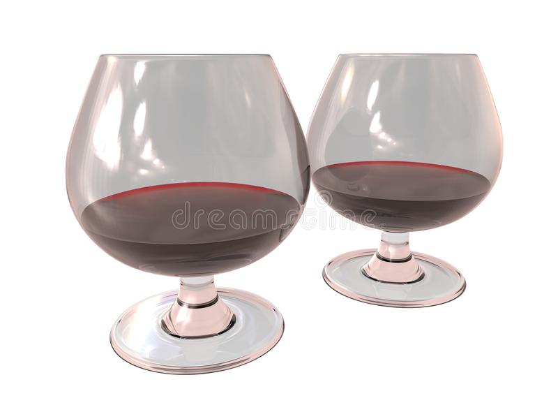 Download Wineglass Set Odpłaca Się Z Cieczem I Odbiciami Ilustracji - Ilustracja złożonej z napoje, komputer: 57671145
