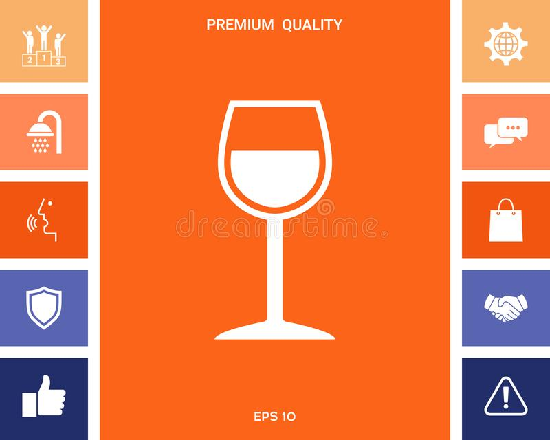 Wineglass symbol ilustracji