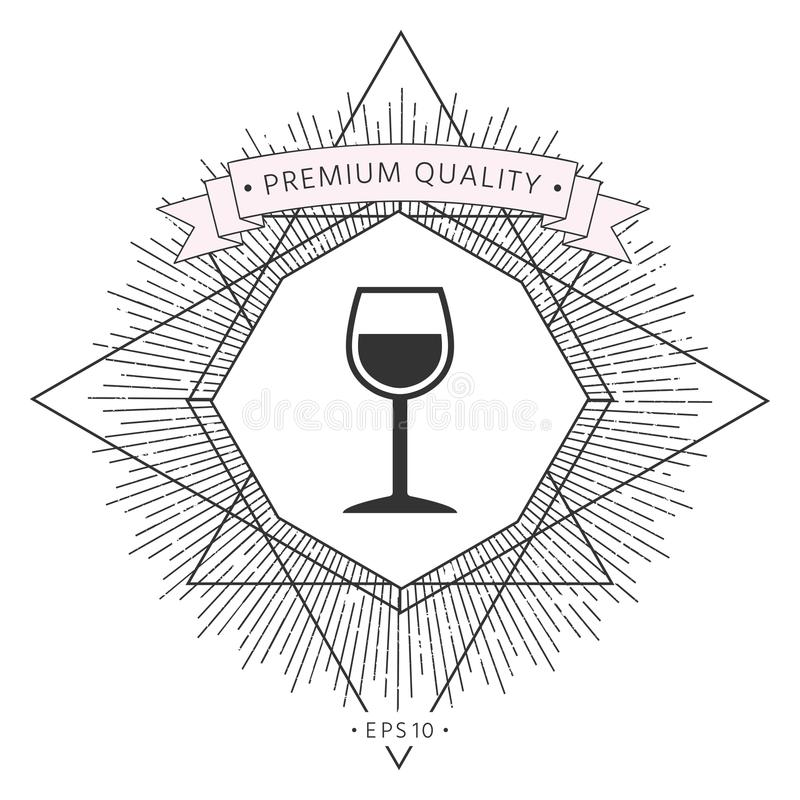 Wineglass symbolu ikona ilustracja wektor