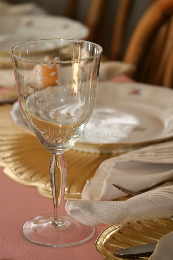 Wineglass at Table 1 royalty free stock images
