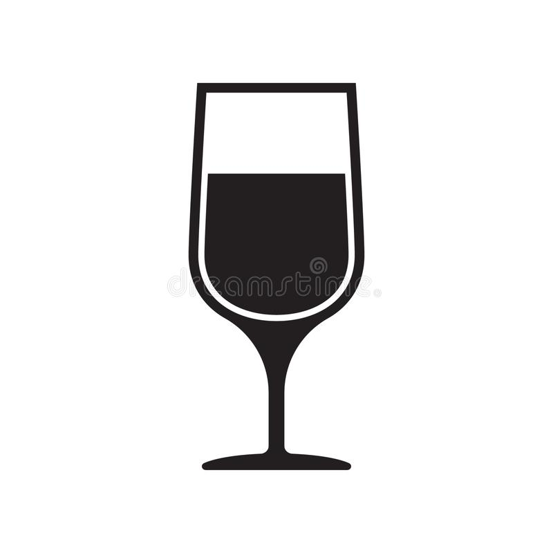 Wineglass wektor, wina szk?a ikona, symbol royalty ilustracja