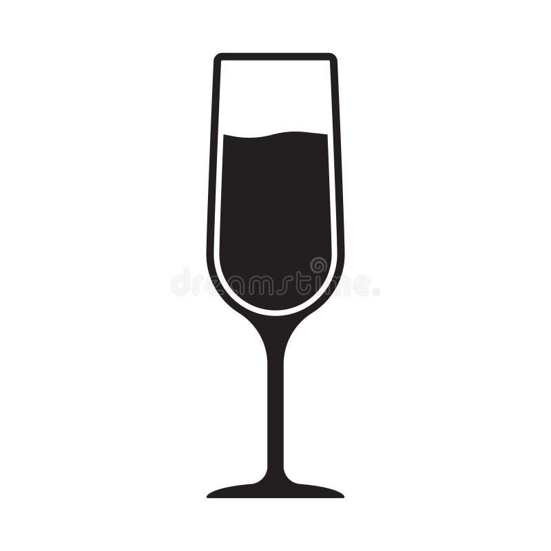 Wineglass wektor, wina szk?a ikona, symbol ilustracja wektor