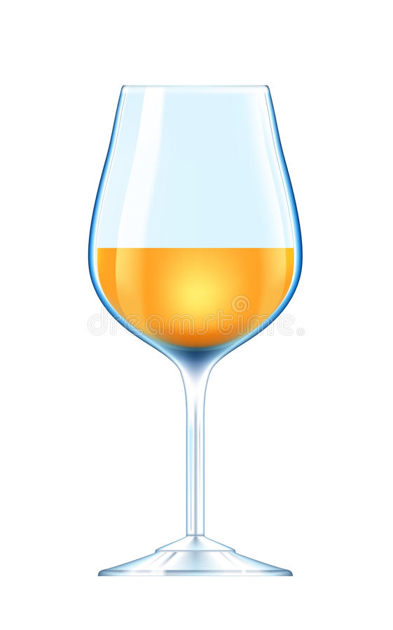 Download Wineglass with white wine stock illustration. Image of event - 25480222