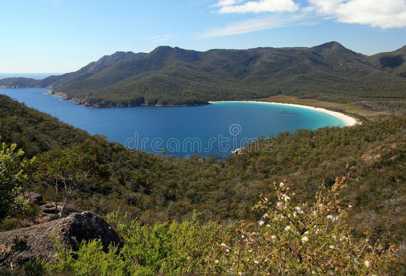 Wineglass zatoka, Freycinet park narodowy, Tasmania Australia zdjęcia royalty free