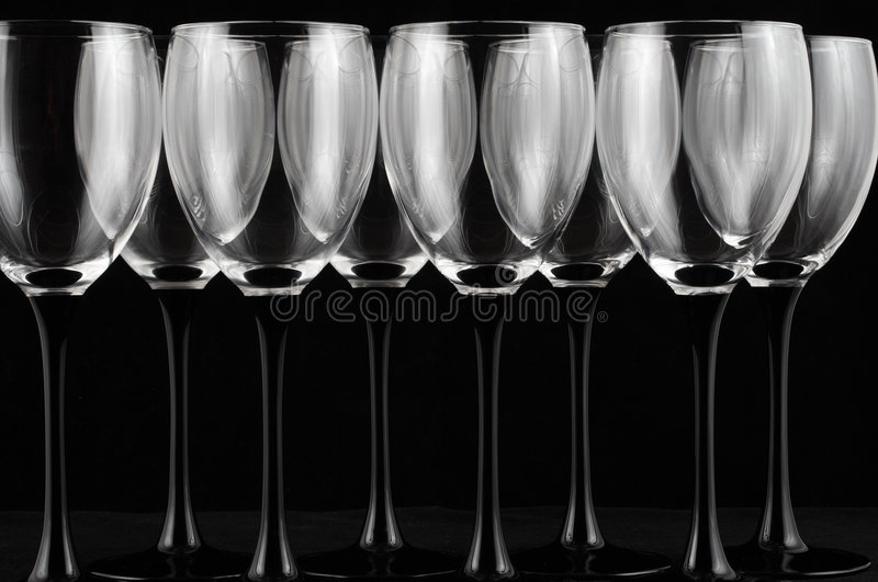 wineglasses arkivbild