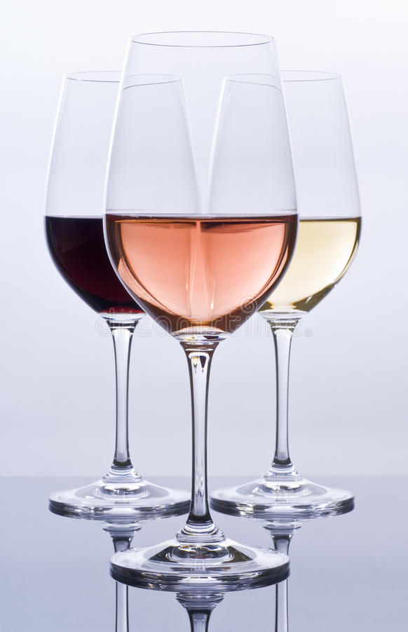 Download Wineglasses Filled With Colorful Wine Royalty Free Stock Photos - Image: 14440468