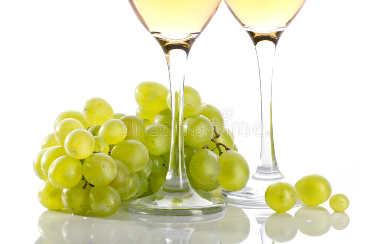 Wineglasses i racemation zdjęcie royalty free